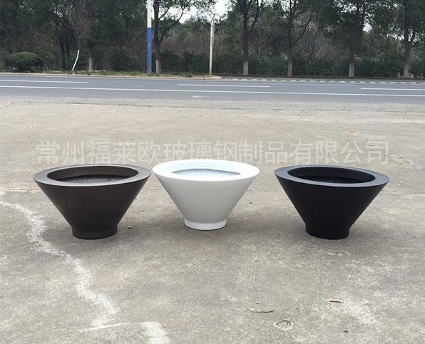 黑白玻璃钢花盆