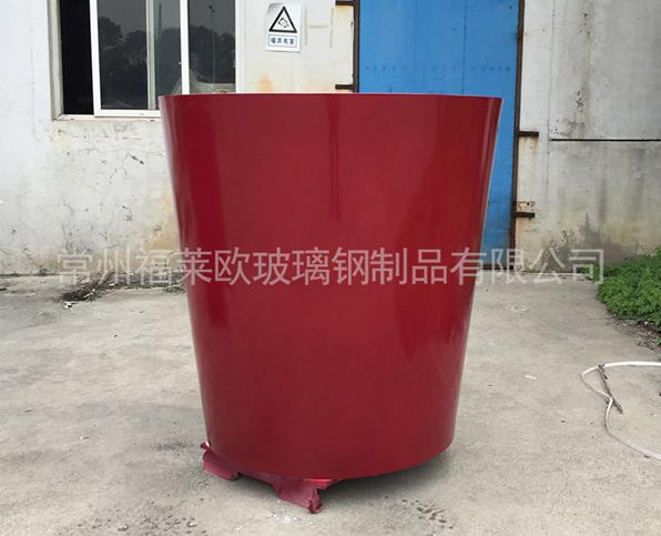 红色大玻璃钢花盆