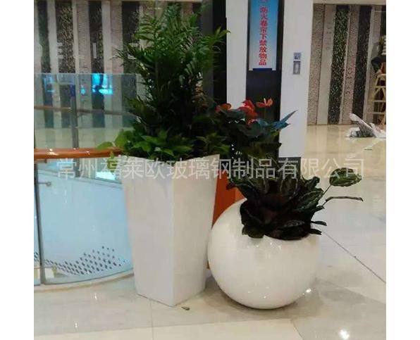 商场玻璃钢花盆组合