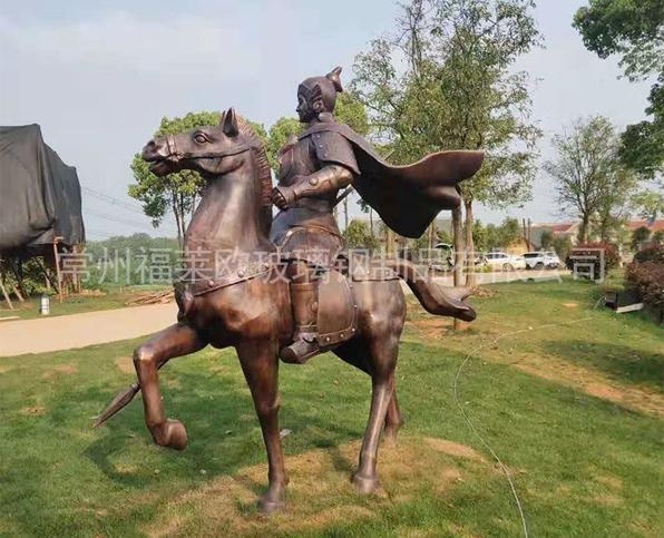 公园古铜玻璃钢雕塑