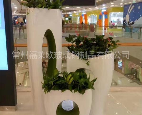 玻璃钢商场花盆