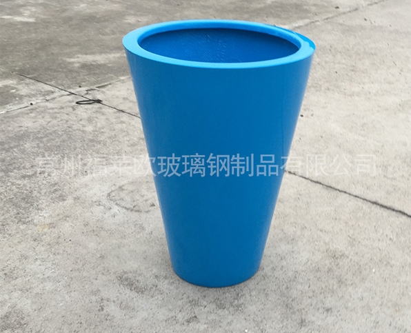 蓝色玻璃钢花盆