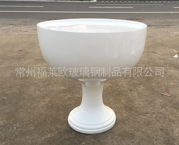 白色茶杯玻璃钢花盆