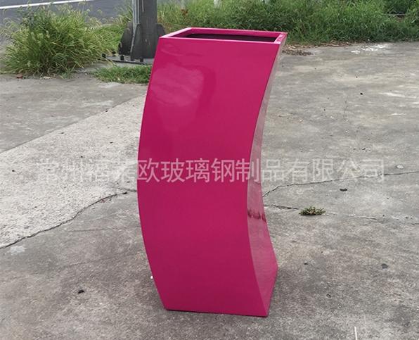 枚红色玻璃钢花盆