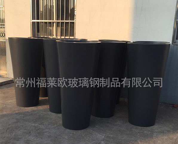 黑色玻璃钢花盆