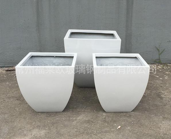 玻璃钢白色花盆