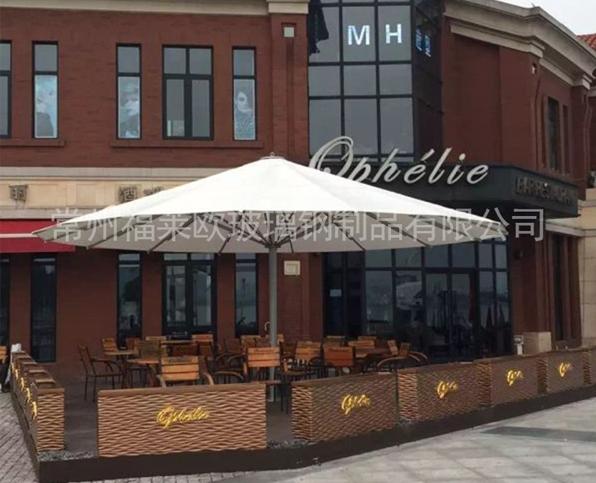 咖啡馆户外玻璃钢花盆
