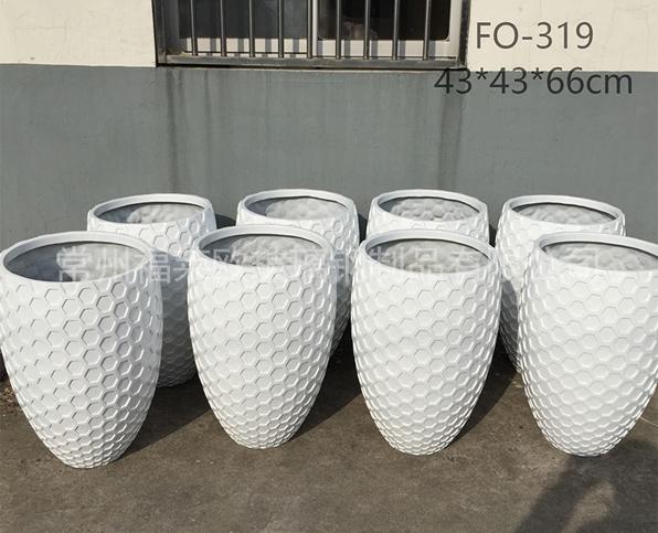 白色玻璃钢花盆