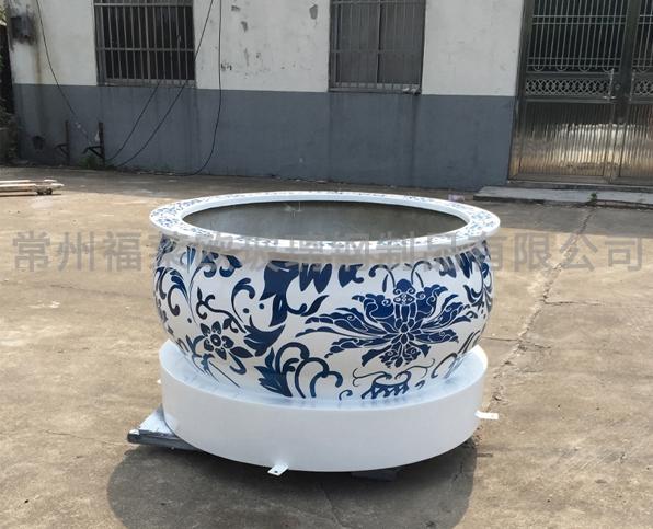 青花瓷玻璃钢花盆