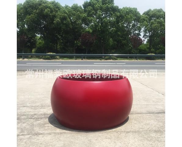 红色玻璃钢花盆