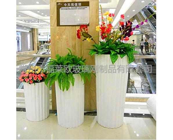 玻璃钢商场花盆组合