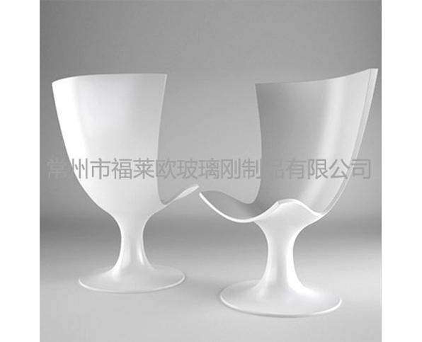 白色玻璃钢椅子