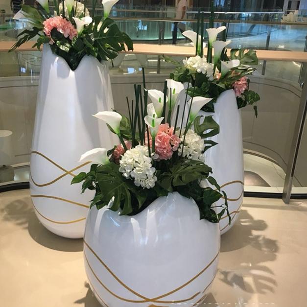 玻璃钢花盆圆形
